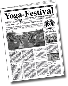 Deckblatt Yogafestival-Zeitung 2010