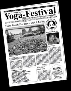 Deckblatt Yogafestival-Zeitung 2011