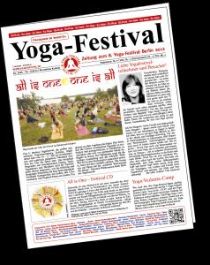 Deckblatt der Yogafestival-Zeitung 2012