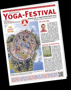 Deckblatt der Yogafestival-Zeitung 2013